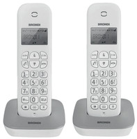 Telefono Cordless Gala Twin Brondi Bianco/Grigio