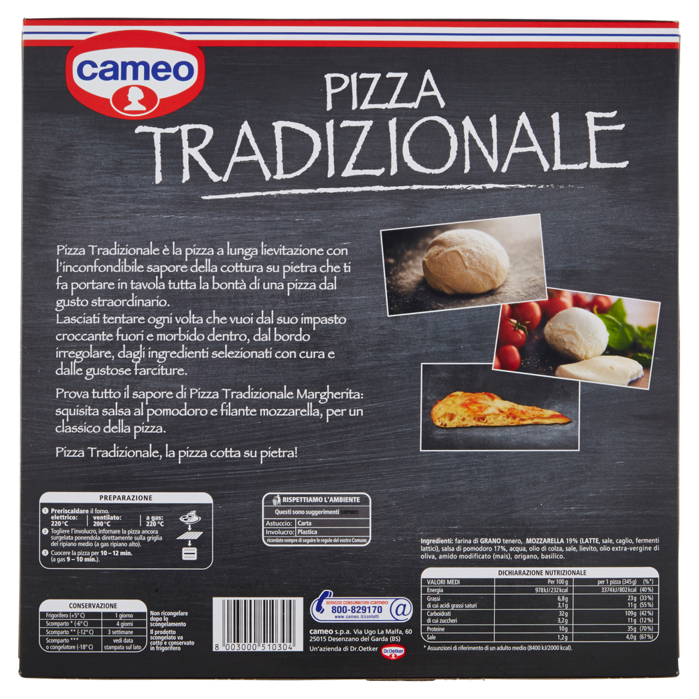PIZZA TRAD.MARGH.CAMEO