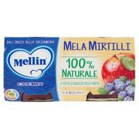 Omogeneizzati Alla Mela E Mirtillo Mellin 2 Da Gr . 100