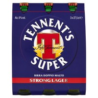 Birra Tennent ' s Super 3 Bottiglie Da Cl . 27 , 5