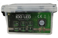 Catena Luminosa 100 Luci Led In Plastic Box