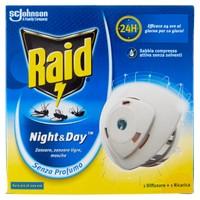 Elettroemanatore Antizanzare Raid Night & day Conf . Da Pz . 2
