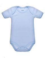 Body Neonato Mezza Manica Rigato Azzurro 100 % Cotone 12 / 18 Mesi