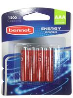 4 Pile Alcaline Mini Stilo Energy Power Bennet