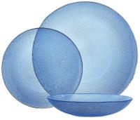 Servizio Tavola Vetro Blu