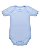 Body Neonato Mezza Manica Rigato Azzurro 100 % Cotone 9 / 12 Mesi