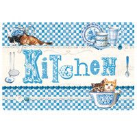 Tovaglietta Americana Blue Kitchen