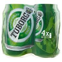 Birra Tuborg 4 Lattine Da Cl . 33