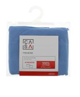 Federa Tinta Unita Cm 50 x 80 Azzurro Scuro Conf Da 2 Casa