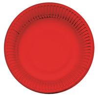 Piatti Usa & getta In Cartoncino Rosso Bibo Cm . 19 Conf . da 20