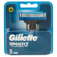 Lamette Di Ricarica Mach3 Turbo Per Rasoio Da Uomo Gillette, 5 Pezzi
