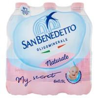 Acqua Naturale San Benedetto 6 Da L . 0 , 5