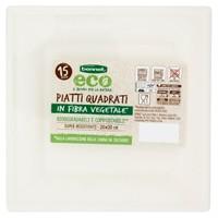 Piatti Quadrati In Polpa Di Cellulosa Bennet Eco Cm . 20 x 20