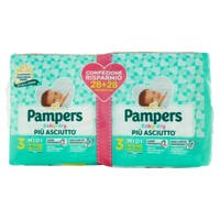 Pannolini Pampers Baby Dry Midi Pacco Doppio
