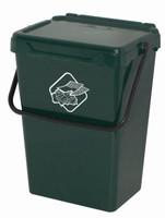 Secchio Verde Per Raccolta Differenziata Con Coperchio 39l Art Plast
