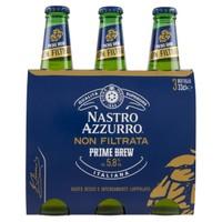 Birra Nastro Azzurro Prime Brew 3 Bottiglie Da Cl . 33