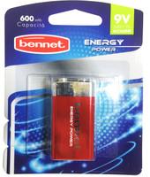1 Pila Alcalina Transistor 9v Energy Power Bennet