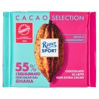 Tavoletta Ritter Sport Cioccolato Al Latte 55 % Ghana