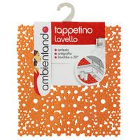 Tappeto Per Lavello Cm.32x32 Arancio