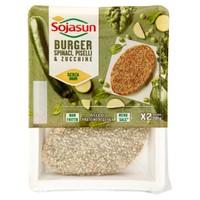 Burger Di Grano E Soia Spinaci,Piselli E Zucchine Sojasun