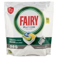 Detergente Lavastoviglie Al Limone Fairy Platinum,Conf. Da 65 Caps