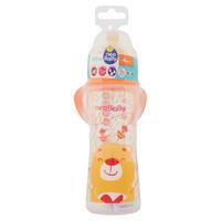 Biberon Plastica Con Manici Decori Arancioni Collo Largo Da 330 Ml 4 m +