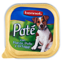 Pate ' Per Cani Cani Manzo / pollo / verdure Bennet
