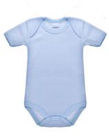 Body Neonato Mezza Manica 6 / 9 Rigato Azzurro Intimami