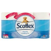 Carta Igienica Pulito Completo Scottex 12 Rotoli