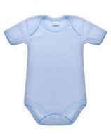 Body Neonato Mezza Manica Rigato Azzurro 100 % Cotone 3 / 6 Mesi