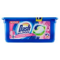Detersivo Lavatrice Allin1 Pods + Protezione Tessuti Dash, 24 Lavaggi