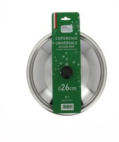 Coperchio Metallo Inox Cm.26