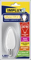 Lampadina Led Candela Stripes Tutto Luce 30w E14 Luce Calda Implux