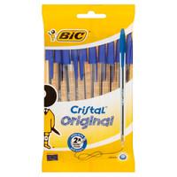 10 Cristal Original 1 . 0 Mm Penne Blu Bic