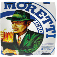 Birra Moretti Zero 3 Bottiglie Da Cl . 33