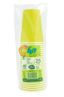 Bicchieri Usa & getta In Cartoncino Colorato Verde Flo Cl . 20