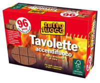Accendifuoco Ecologico Inodore 96 Cubetti Fsc