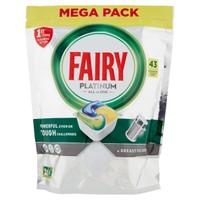 Pastiglie Lavastoviglie  Platinum Limone Fairy, 43 Capsule