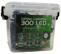 Catena Luminosa 300 Luci Led In Plastic Box