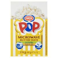Popcorn Microwave Burro Pop Pata 3 Buste Da Gr . 90