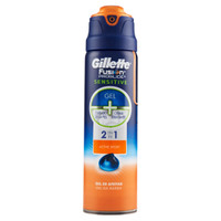 Gel Barba 2 in 1 Fusion Proglide Sensitive Active Sport Gillette