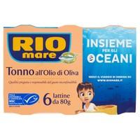 Tonno In Olio D ' oliva Rio Mare 6 Da Gr . 80 Cad .