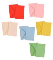 Confezione Da 10 Buste + 10 Biglietti Bristol Colori Assortiti