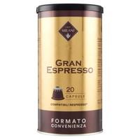 Capsule Gran Espresso Milani Compatibili Sistema Nespresso