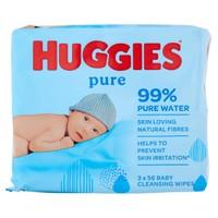 Salviettine Huggies Pure 2+1
