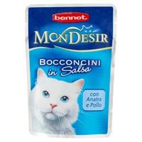 Alimento Umido Per Gatti Mon Desir Bocconcini Anatra Pollo