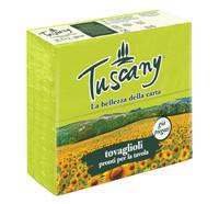 Tovaglioli Colorati 2 Veli Tuscany Verde Kiwi Cm . 38 x 38