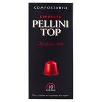 Top Arabica 100 % In Capsule Pellini Conf . Da 10