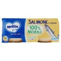 Omogeneizzati Con Salmone Mellin 2 Da Gr . 80