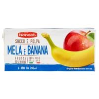 Succo E Polpa Di Mela E Banana Bennet 6 Da Ml . 200 Cad .